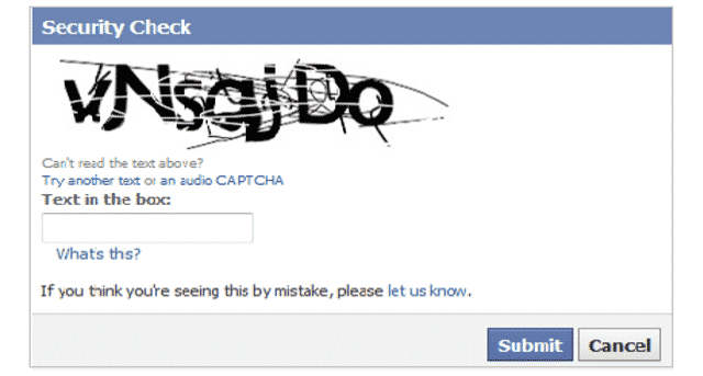 Text Based CAPTCHA Code