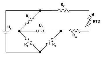 Two Wire Configuration of Resistance Temperature Detector
