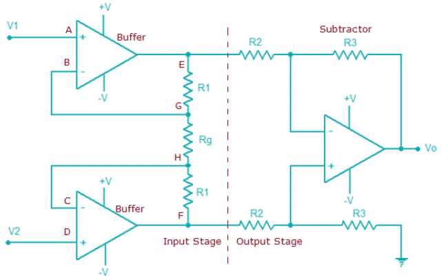 Instrumentation Amplifier Configuration