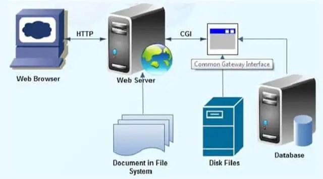 Common Gateway Interface (CGI) Process Diagram