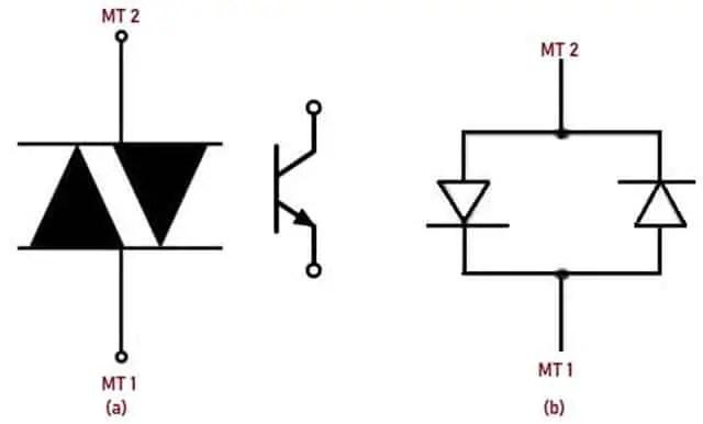 Schematic Symbol and Equivalent Circuit of DIAC