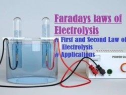 Faraday Laws of Electrolysis – First Law, Second Law and its Applications