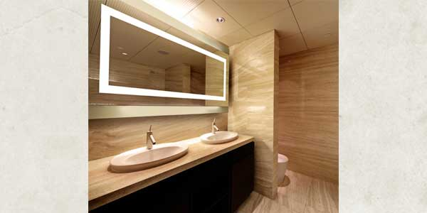 JESCO Back-Lit Mirrors:  Illuminated With LEDs or T5 Fluorescents Available in Three Sizes and Two Styles