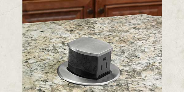 kitchen countertops ups up mount waterproof flushmount hubbell outlet bk pop receptacle popped countertop black flush power counter products