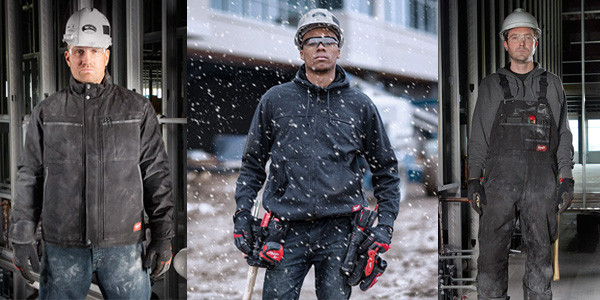 Milwaukee Improves Durability, Mobility, and Performance of Work Gear for the Trades with New Jackets, Bibs, and Sweatshirt