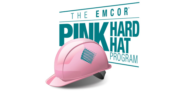 Emcor Group, Inc. Employees Form Giant Pink Hard Hat Ribbons — Thousands More Wear Pink Hard Hats at Job Sites Nationally