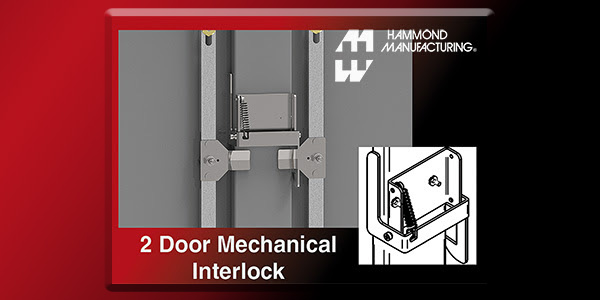 Hammond Manufacturing Field Installable Mechanical Safety Interlock for Two- Door Cabinets & Hammond Manufacturing Field Installable Mechanical Safety ...
