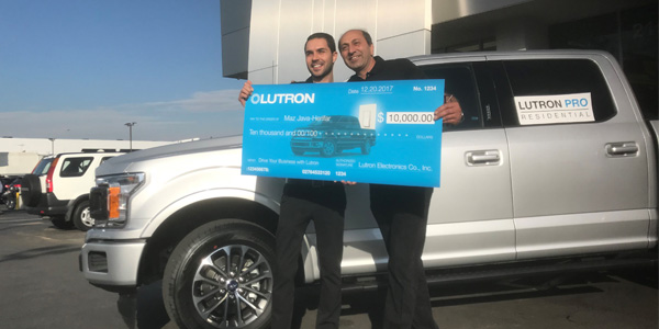 Lutron Announces Winner of Ford F-150 Truck and $10,000 Cash Prize