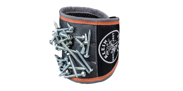 Klein Tools Tradesman Pro Magnetic Wristband Helps Keep Small Pieces and Parts Close at Hand