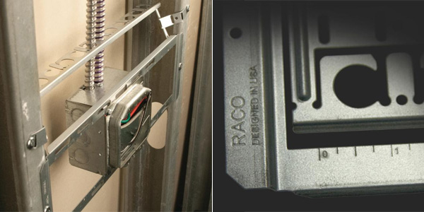 RACO Introduces Open Center Brackets for Electrical Boxes