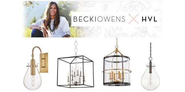 Hudson Valley Lighting Premiers Collection with Becki Owens at April High Point Market