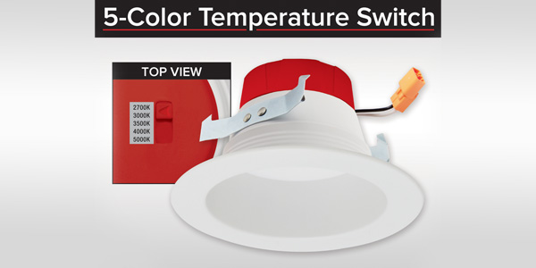 ELCO Lighting Introduces the NEW 5-Color Temperature Switch LED Inserts
