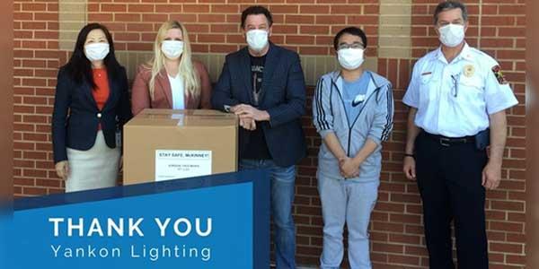 Energetic Lighting Donates 10K Masks to MEDC - McKinney Economic Development Corporation
