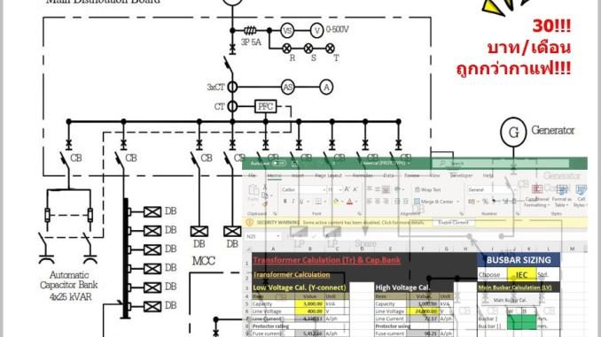 โปรแกรมช่วยคำนวณทางไฟฟ้า PowerCal (EE)