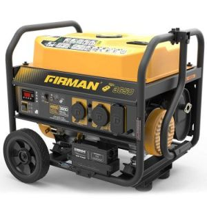 Firman P03608 4550-3650 Watt Remote Start Gas Portable Generator CARB Certified with Wheel Kit