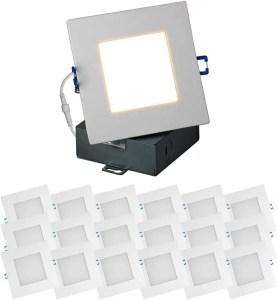 Quest LED Slim Recessed Panel Ceiling Downlight