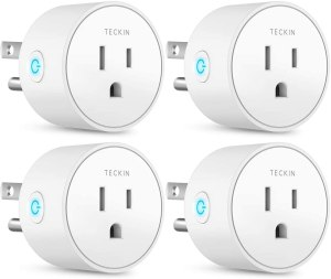 Teckin Smart Plug Works with Alexa Google Assistant for Voice Control