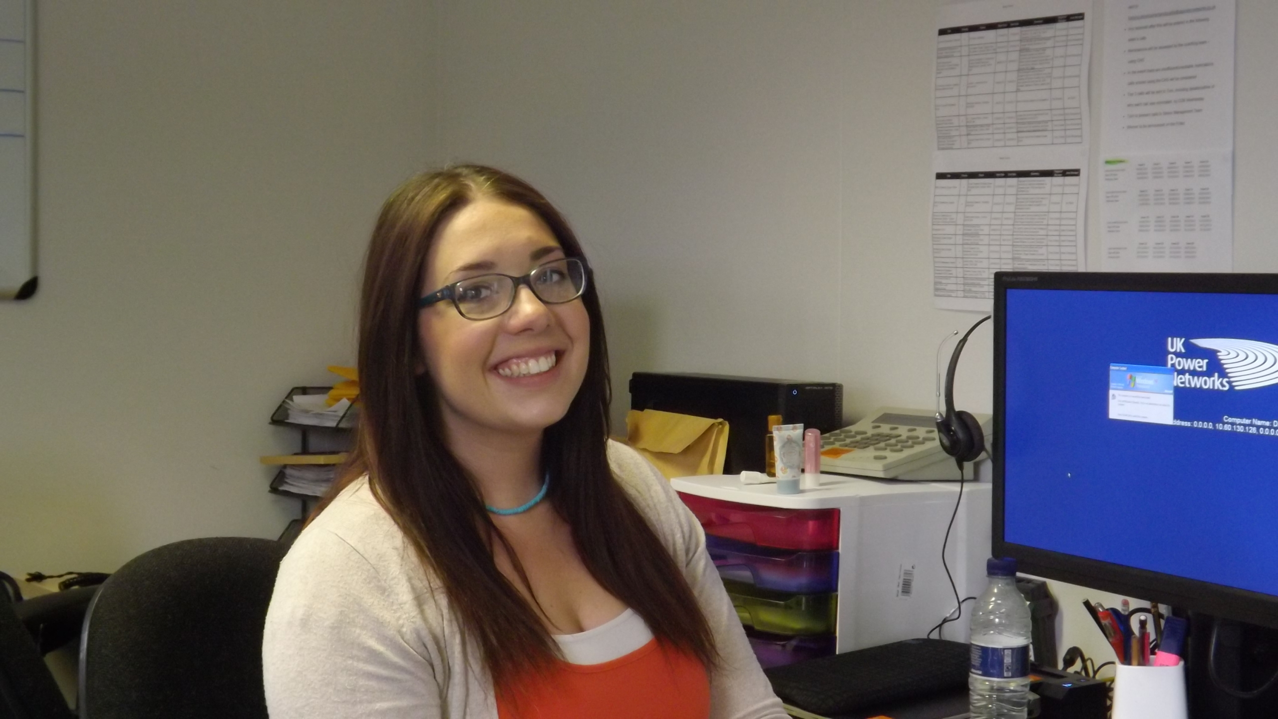 Lesley Watson from UK Power Networks' customer service team who has been trained to recognise signs of domestic abuse