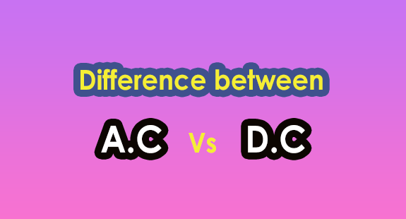 AC and DC difference