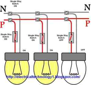 Wiring a light switch: control each lamp by separately switch