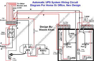 Automatic UPS system wiring circuit diagram (HomeOffice)