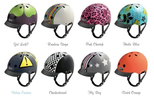 The wild and zany Nutcase bike helmets!