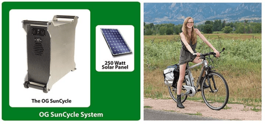 electric bike solar charging