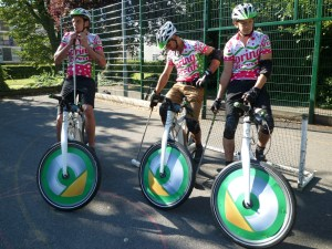 The Spring Break bike polo team on Smart Electric Bikes!