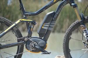 There were many Bosch equipped electric bikes at the 2014 Sea Otter Classic.