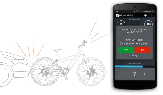 Visiobike electric bike accident app