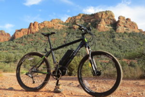 "The IZIP E3 Peak; a 27.5"" wheel e-mountain bike with mid drive motor, 48V mid mount battery, up to 28 mph, & more!"