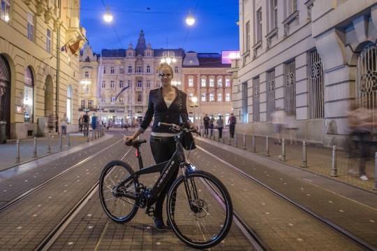 visiobike electric bike google glass