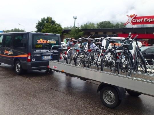 european electric bike tour trailer