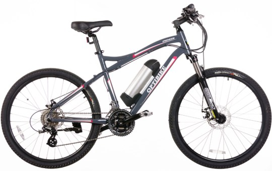The Optibike Pioneer Allroad mid drive electric bike.