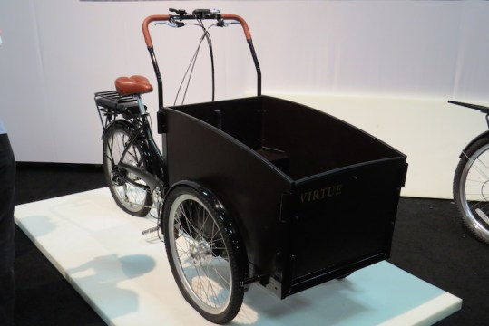 virtue schoolbus electric cargo bike side