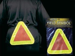 reflective bike yield symbol