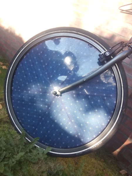 dutch solar electric bike front wheel