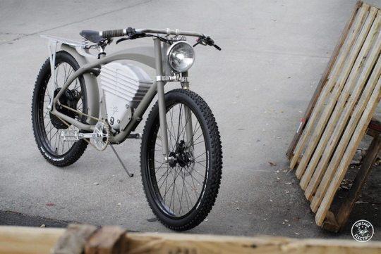 vintage e-tracker electric bike grey