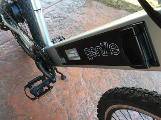 GenZe Sport electric bike battery