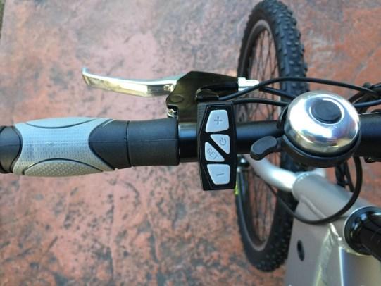 GenZe Sport electric bike left handlebar