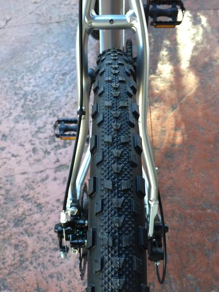 GenZe Sport electric bike rear tire