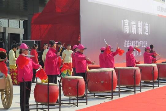 yadea bikes opening ceremony drumming