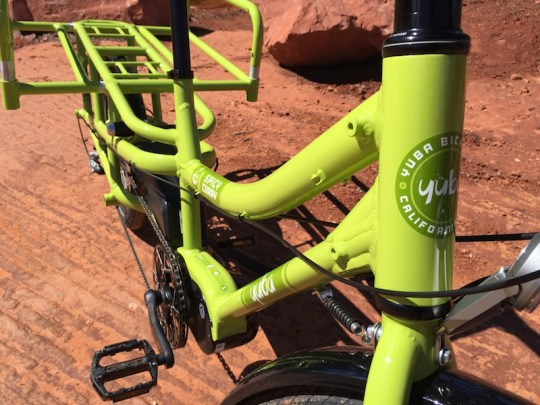 yuba spicy curry electric cargo bike frame
