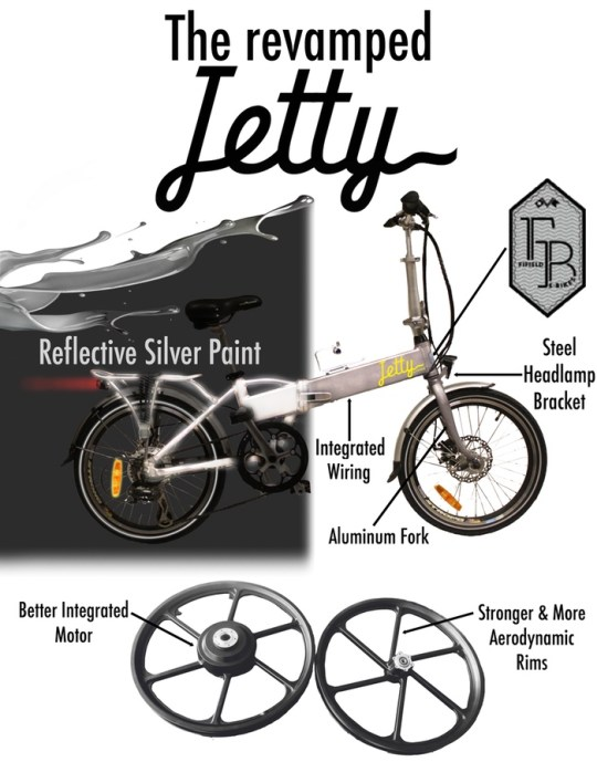 Revamped Fifield Jetty folding electric bike
