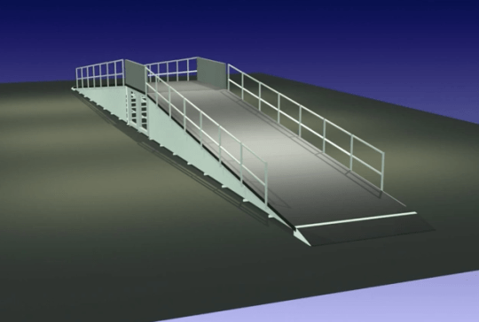 Electric Bike Expo ride track ramp