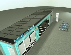Solar electric bike charging station
