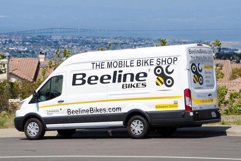 beeline mobile bike shop van