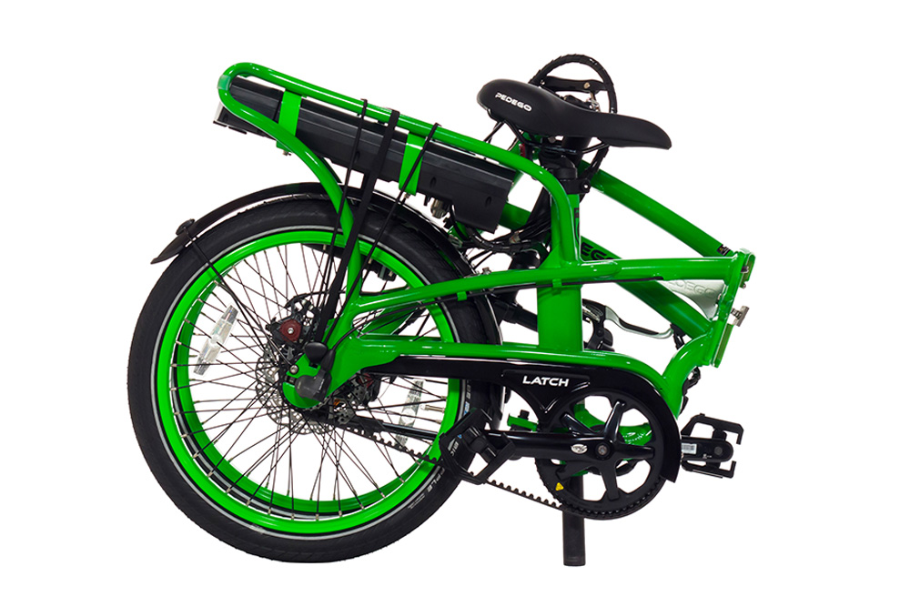 Pedego latch electric bike folded