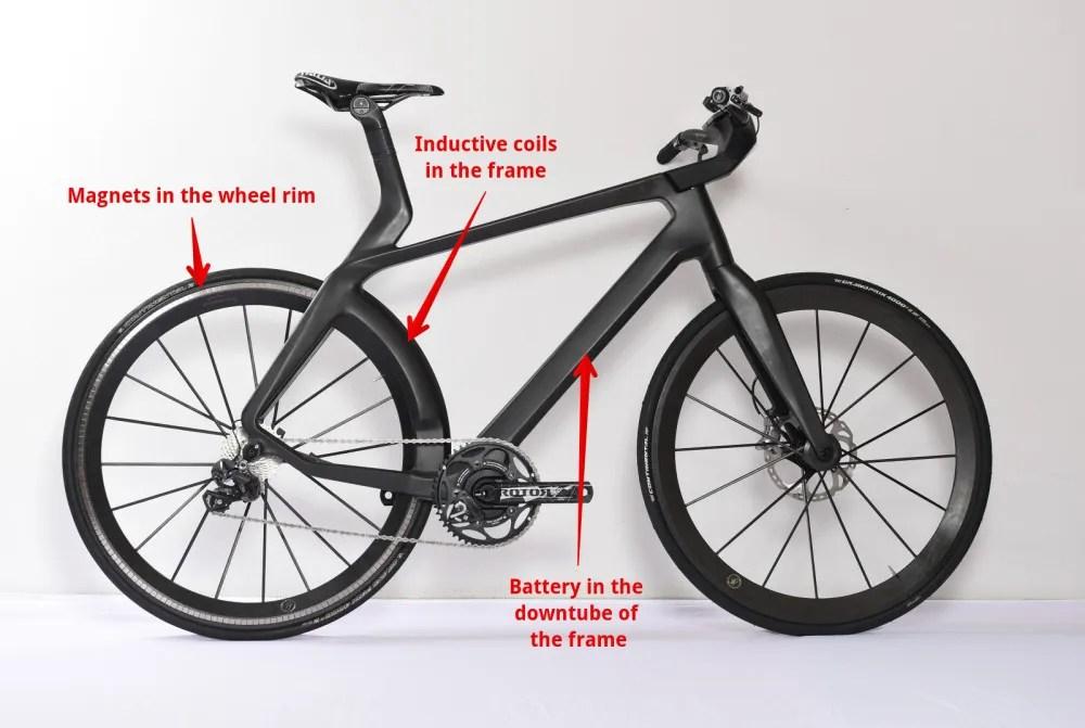 lightweight velocit maglev hidden motor electric bike