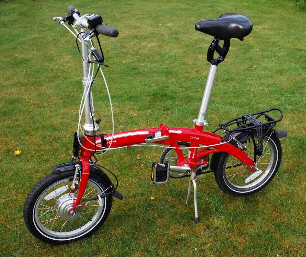 Thudbuster on Dahon Curve electric conversion